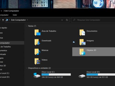 Windows 10 remove atalho inútil para pasta Objetos 3D após atualização