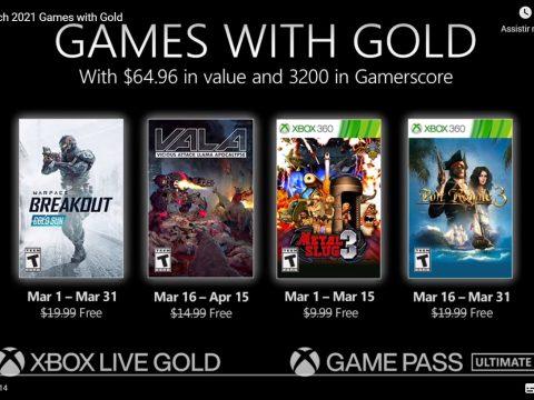 Xbox Live Gold de março tem Warface: Breakout, Metal Slug 3 e mais jogos grátis